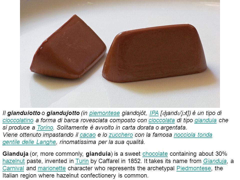 Il gianduiotto o giandujotto (in piemontese giandojòt, IPA [ʤandʊ jɔt]) è un tipo di cioccolatino a forma di barca rovesciata composto con cioccolata di tipo gianduia che si produce a Torino. Solitamente è avvolto in carta dorata o argentata. Viene ottenuto impastando il cacao e lo zucchero con la famosa nocciola tonda gentile delle Langhe, rinomatissima per la sua qualità.